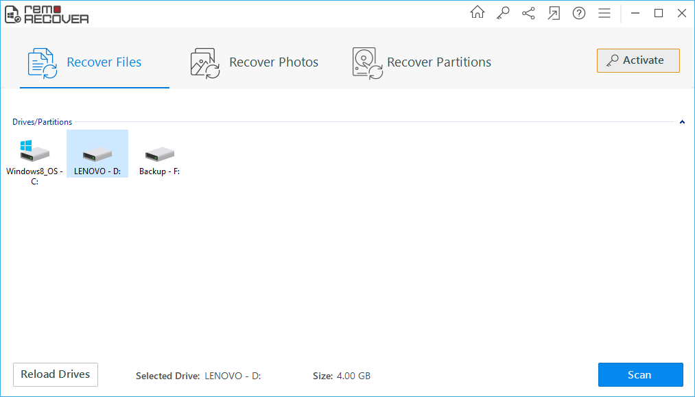 Windows File Recovery - Select Recovery Mode